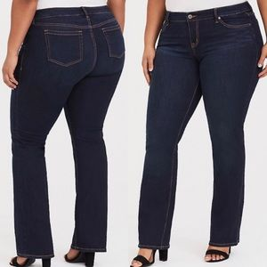 Torrid | Tall Dark Stretch Relaxed Boot Cut Jeans